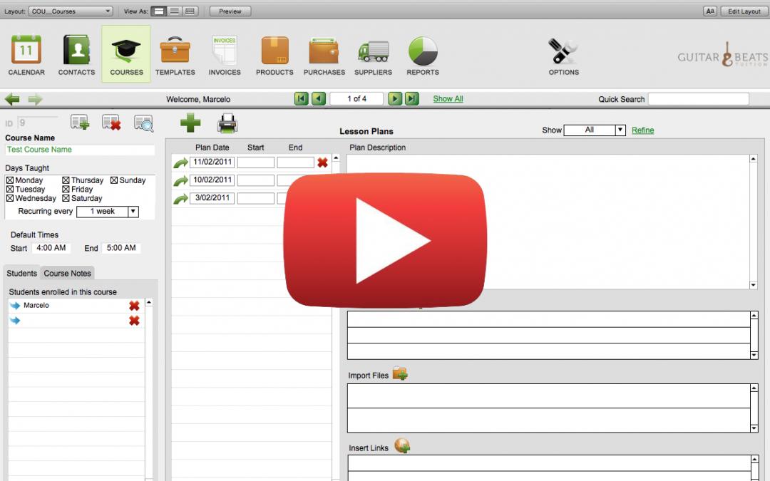 Video of Teacher's Companion v2.2 in use