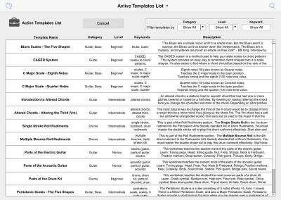 Templates List
