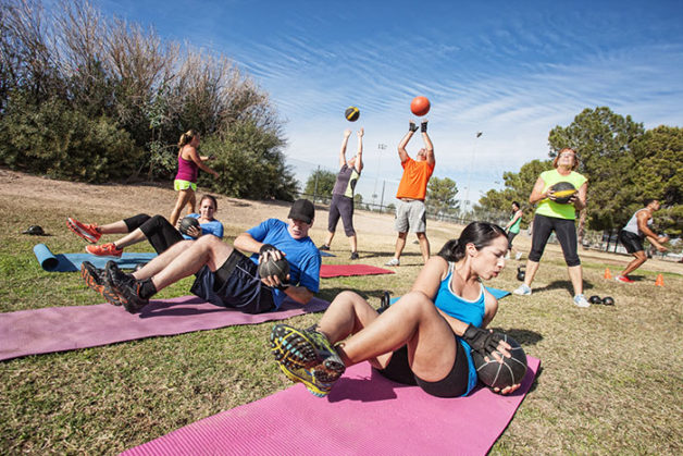 Software solution for outdoor bootcamp fitness class