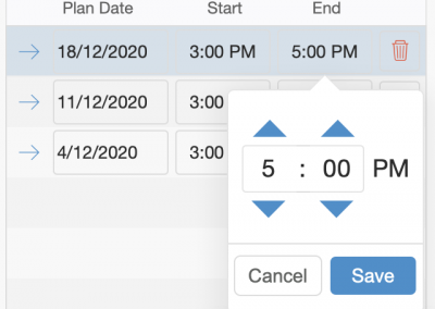Courses - Time Picker