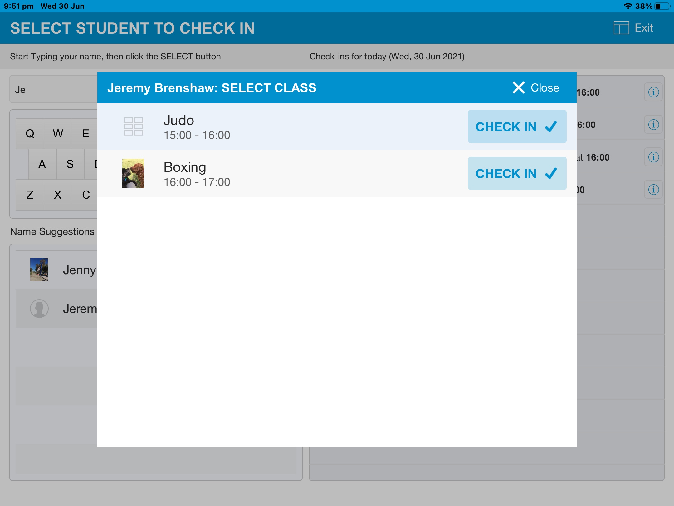 Check-in_Select_Class